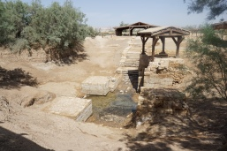 The baptism site of Jesus' on the East bank of the Jordan River.