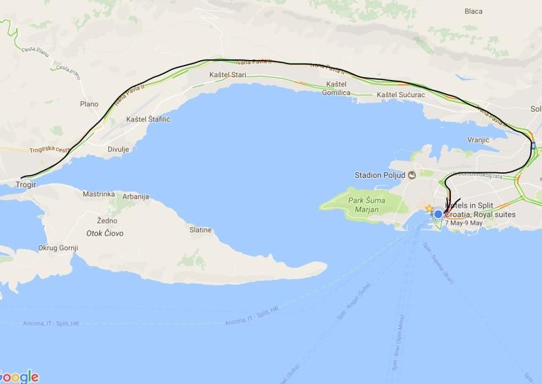 Trogir to Split