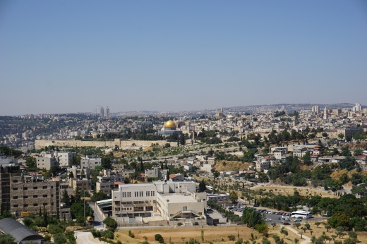 View of Old Jerusalem and the Dome of the Rock