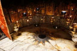 The spot where Jesus was born