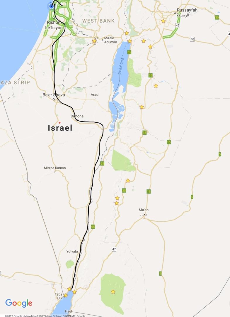 Eilat to Tel Aviv