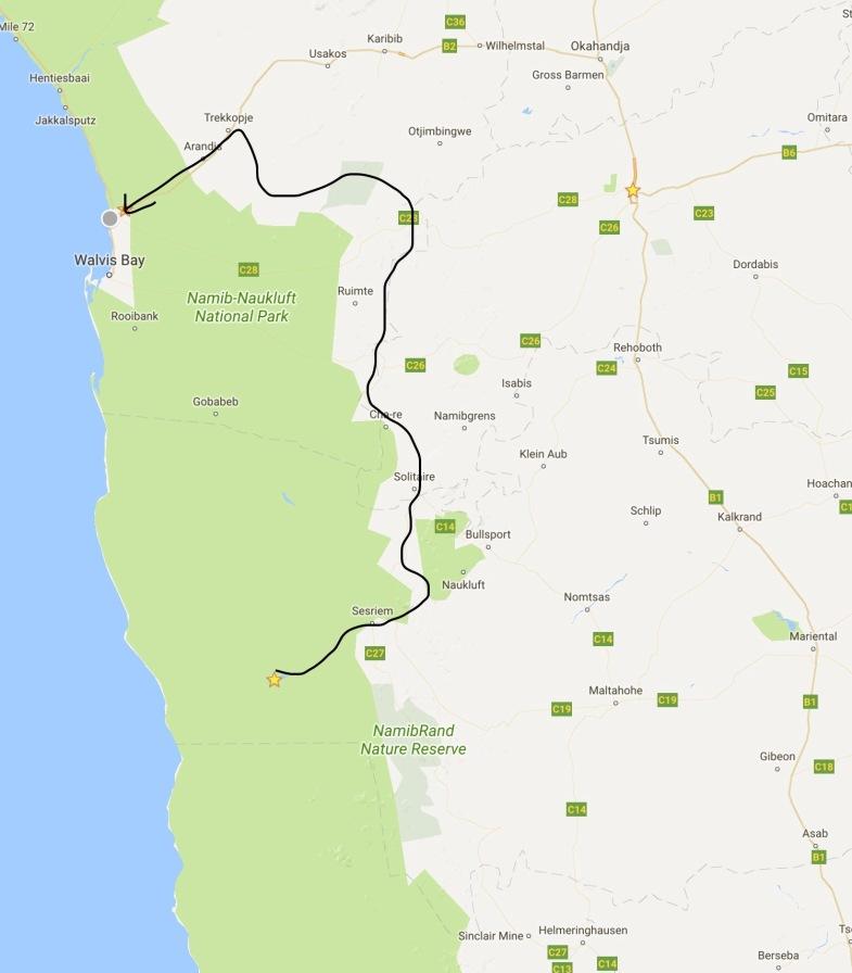 Sossusflei to Swakopmund