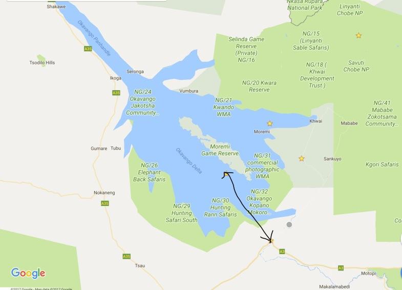 Flight to Okavango