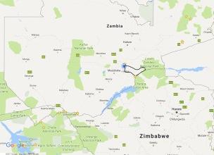 Zambezi River Zambia map