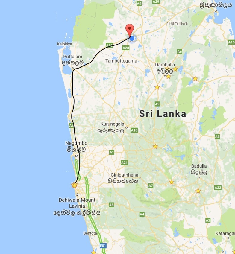 Colombo to Anuradhapura