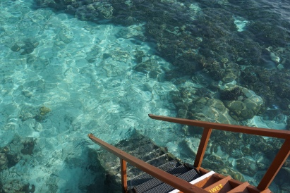 Our water villa stairs