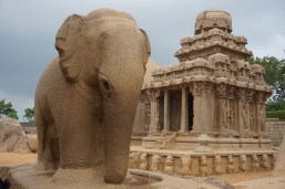 Elephant Ssculpture amongst the rathas