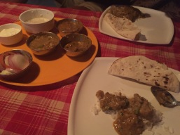 Our Thali dinner