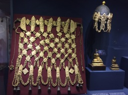 Ceremonial apron and headdress made from human bone