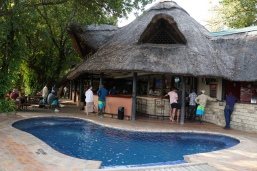 The bar and pool