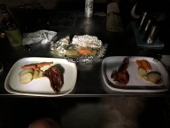 Chops with scalloped potatos